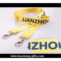 China custom size and logo Double layer lanyard with custom logo and metal hook wholesale
