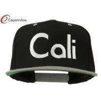 Quality Acrylic 3D Embroidery Snapback Baesball Caps With Black Silver Cali for sale