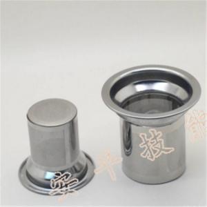 China Customized Cylinder Mesh Tea Filter , Mesh Tea Infuser No Burr Dual Handles on sale
