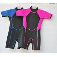 China Shorty Surf Suit in 3mm SBR Material Laminate Black & Tan polyester for Boys and Girls on sale