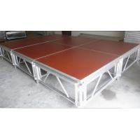 China Red 3 - Level Plywood Aluminum Stage Platform With Anti - Slip Board wholesale