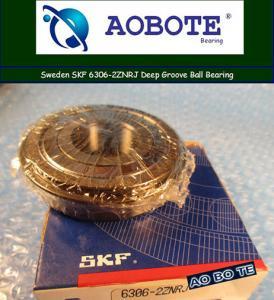 China Single Row Sealed Deep Groove Ball Bearing SKF 6306-2ZNRJ ABEC 5 wholesale