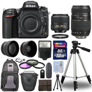 China Nikon D750 Digital SLR Camera + 4 Lens Kit: 18-55mm VR + 70-300 mm + 32GB Kit wholesale