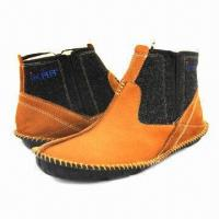 China Men's Fashionable Ankle Boots/Leisure Casual Shoes, Handmade, in Khaki wholesale