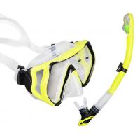 China Food Grade Silicone Mask Snorkel Set With Large Vision Lens Custom Module Available wholesale