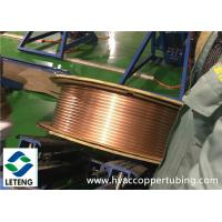 Buy cheap Refrigeration Copper Compression Fittings 0.8 Mm Wall Thick Pancake Copper Tube from wholesalers