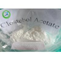 China White Crystalline Powder Clostebol Acetate / Testosterone Anabolic Steroid CAS 855-19-6 wholesale