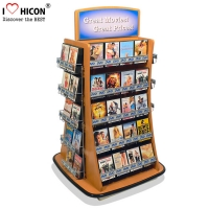 China Playing Card CD Card Greeting Card Display Racks Wholesale Freestanding wholesale