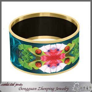 China Custom paper print enamel big bangle wholesale