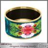 Buy cheap Custom paper print enamel big bangle from wholesalers