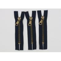 China Garment Antique Brass 14 Inch Heavy Duty Metal Zippers Navy Tape For Coveralls wholesale