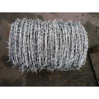 China Roll Galvanized Barbed Wire For Agriculture / Animal Husbandry 12.5x14.5 Gauge wholesale