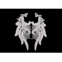 Buy cheap R&D Embroidered Angel Wings Lace Collar Applique For Fashion Show DIY Lace Patch from wholesalers