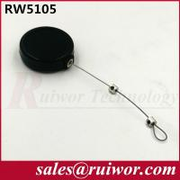 China Purchase Security 1/5 LB Retractable Steel Cable 50 Cm Length / 0.45 Mm Diameter wholesale