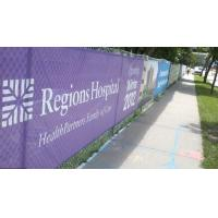 Quality Custom Printing On 10oz Pvc Mesh Banner , Trade Show Mesh Outdoor Banner for sale
