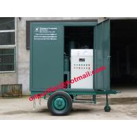 China Trailer closed structure type vacuum transformer oil dehydration Degasifier machine wholesale