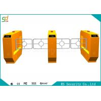 China RS485  Yellow Swing Barrier Gate With IR Sensor Anti-pinch Bi-direction Door wholesale