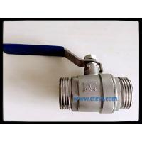 China Male Thread Stainless Steel Ball Valves Manual Ball Valve Without Lock Hand wholesale