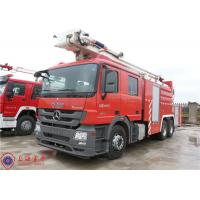 China High Spraying Water Fire Truck Benz Chassis With Fully Synchronized Gearbox wholesale