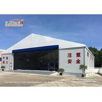 China White Color Permanent Relocatable Aircraft Hangar 25 X 50 Side Hard Wall wholesale