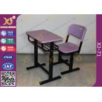 China Eco Friendly PP Material Student Desk And Chair Set For International School wholesale
