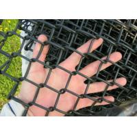 China Garden Chain Link Fencing Mesh 2 '' Wire 4 . 0 MM Black  Color 10 ' Height wholesale