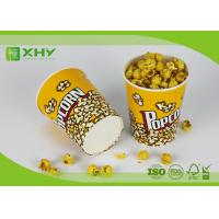 China 24oz to 170oz Paper Popcorn Buckets 100% food grade , disposable paper popcorn cup and bucket wholesale