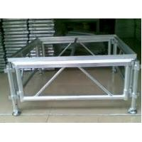 China Adjustable Height Aluminum Stage Truss For Indoor / Outdoor Movable Stage Platform wholesale