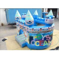 Quality Birth Blue Kids Inflatable Bounce House For Rent Folding Transparent for sale
