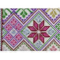 China Multi Colored Cross - Stitched Embroidery Lace Fabric From Schiffli Lace Machine wholesale