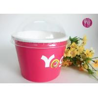 China Printing Diposable ice cream paper cups with lids for Frozen Yogurt wholesale