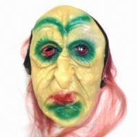 China EVA Ghost Mask with Polyester Cloth Components, Available in Yellow wholesale