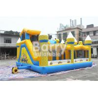 Buy cheap Outdoor Kids Minions Inflatable Bouncy Castle With Slide 0.55MM PVC Tarpaulin from wholesalers