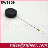 China ABS Plastic Round Retractable Steel Cable Tether With Loop Cable End 20 Gram wholesale