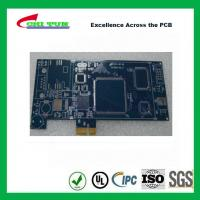 China Blue Multilayer PCB Board 6l fr4 1.6MM LF HASL + GOLD FINGER wholesale
