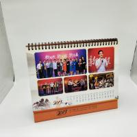 China Paper Personalised Desk Calendar / Logo Printing Stand Up Desk Calendar on sale