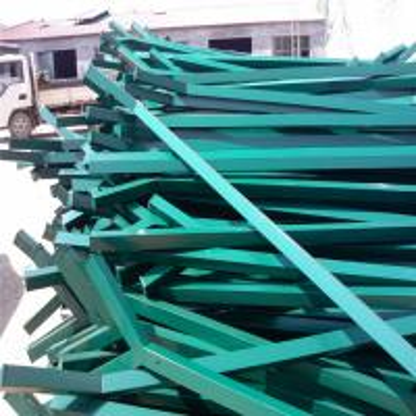 Green Vinyl Pvc Coated Weld Steel Wire Mesh Fence 4mm Wire