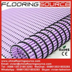 China PVC Tube Matting bathroom mat changing room mat non-slip drain water wholesale