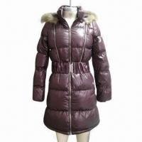 China Women's Down Long Coat, Made of 100% Polyester Fabric wholesale