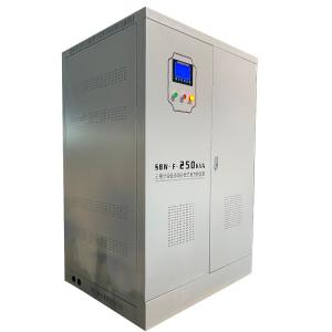 China Manufacturer SBW-F-250KVA 43-67 Hz Three Phase Separate Regulation Automatic Compensated Volt Stabiizer on sale