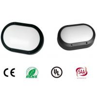 China Aluminium Oval Shape Black Housing Outside Bulkhead Lights 280mm Impact Resistance wholesale