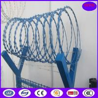 China Hot Dipped Galvanized BTO-22 2.5MM 900mm 13 kg Concertina Razor Barbed Wire on sale