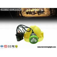 China 50000 Lux Stainless Intrinsically Safe Corded Rechargeable Miners Headlamp With 11.2ah Li-Ion Battery wholesale