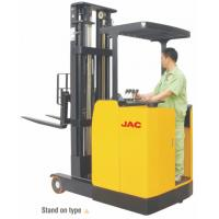 China Stand Up High Lift Reach Truck Forklift 1 Ton Low Noise Max Lift Height 6.2m wholesale
