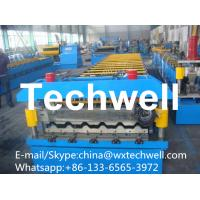 China Aluminium Corrugated Sheet Roll Forming Machine with Chain Transmission on sale