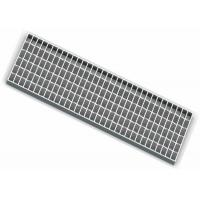China Hinged Grated Square Sump Pit Cover , Custom Steel Driveway Drainage Grates wholesale