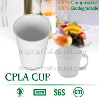 China Blister molding biodegradable durable using coffe cup, cpla cup of blister molding, corn starch tea cup wholesale