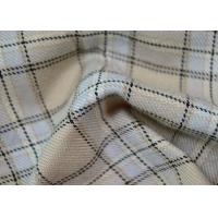 China Comfortable 100 Polyester Fabric / Yarn Dyed Plaid Fabric For Garments wholesale