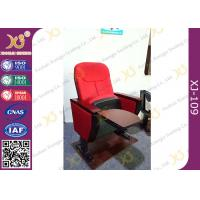 Buy cheap Church Install MDF Writing Pad Cocked PP Outerback Lecture Hall Seating With Red from wholesalers