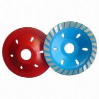 China 3-inch High-quality Diamond Cup Grinding Wheels for Granite and Marble, with 80mm Diameter wholesale